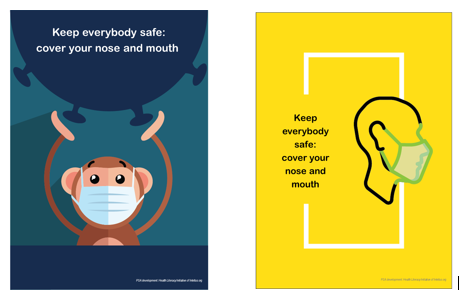 Health Literacy Initiative's PSA: Cover Your Nose and Mouth Posters in 27 Languages to Use and Share